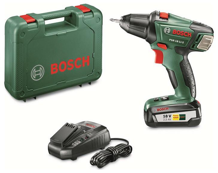 Bosch psr 18 li 2 akkus f r csavaroz gyorst lt kofferben - Bosch psr 18 li 2 ...