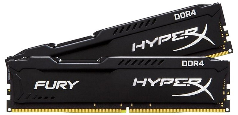 Kingston DDR4 8GB 2133 CL14 HyperX Fury Black Kit (HX421C14FBK2/8) HX421C14FBK2/8