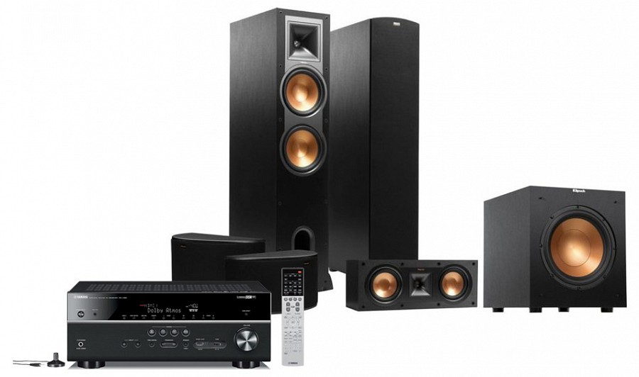 klipsch r 28 yamaha rx v681 5 1 set. Black Bedroom Furniture Sets. Home Design Ideas