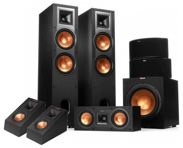 klipsch r 28f 5 1 2 dolby atmos set. Black Bedroom Furniture Sets. Home Design Ideas