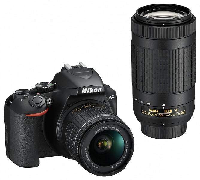 d7a00d103fba Nikon D3500 kit (18-55 mm f/3.5-5.6G VR + 70-300 mm f/4.5-6.3G ED VR) -  220volt.hu